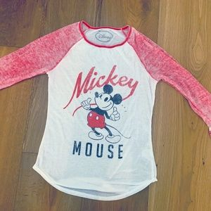 Disney Mickey Mouse Women's long sleeved T-Shirt.